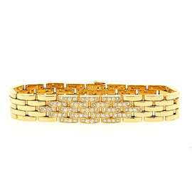 Cartier Maillon Panthere 18K Yellow Gold with 1.88ct Diamond Link Bracelet