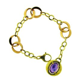 Chimento 18K Rose Gold with Amethyst & Mother of Pearl Bracelet