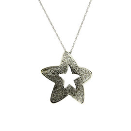 Le Vian 14K White Gold with 0.80ct Diamond Star Necklace
