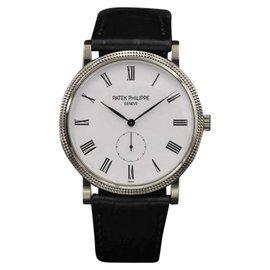 Patek Philippe Calatrava 5119G White Gold White Roman Dial 36mm Mens Watch