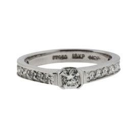 Hearts on Fire Platinum & 18K White Gold with 0.40ct Diamond Engagement Ring Size 6.5