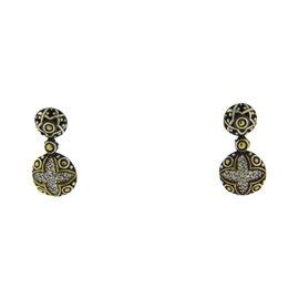 John Hardy 18K Yellow Gold & 925 Sterling Silver with 0.50ct Diamond Earrings