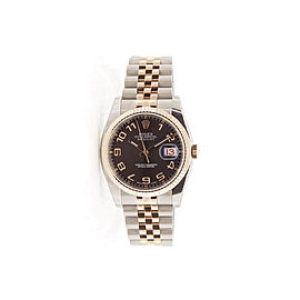 Rolex Datejust 116231 Stainless Steel & 18K Rose Gold Automatic 36mm Mens Watch