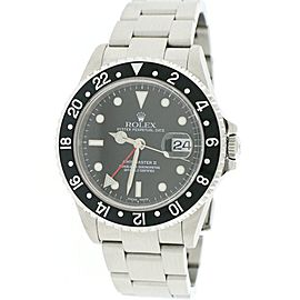 Rolex GMT-Master II 16710 Stainless Steel & Black Dial Automatic 40mm Mens Watch