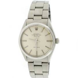 Rolex Air-King 5500 Stainless Steel Silver Dial Automatic 34mm Unisex Watch 1979