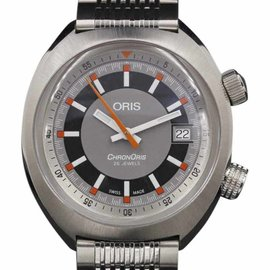 Oris Chonoris 01 733 7737 4053-07 8 19 01 Stainless Steel 39mm Mens Watch