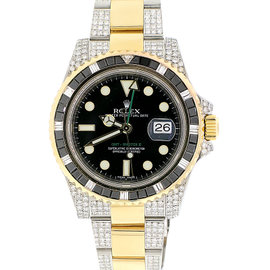 Rolex GMT-Master II 116713 Stainless Steel & Yellow Gold Black Dial Automatic 40mm Mens Watch
