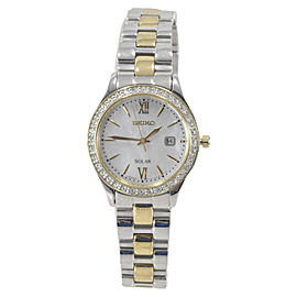 Seiko SUT074 Stainless Steel & Yellow Gold Mother of Pearl Dial 28mm Womens Watch
