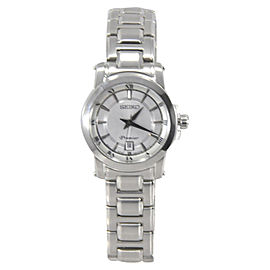Seiko Premier SXDF41 Stainless Steel & Silver Dial 28mm Womens Watch