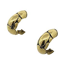 John Hardy 18K Yellow Gold with Kali Pebble Omega Backs Hoops Earrings