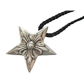Chrome Hearts Sterling Silver Star Necklace