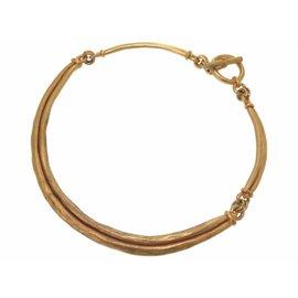 Hermes Vintage Gold Tone Hardware Choker Necklace