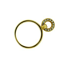 Tiffany & Co. 18K Yellow Gold with 0.10ctw. Diamond Charm Ring Size 6.25