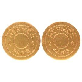 Hermes Gold Tone Hardware Serie Earrings