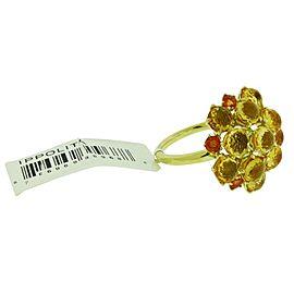 Ippolita 18K Yellow Gold Citrine, Sapphire Ring Size 7