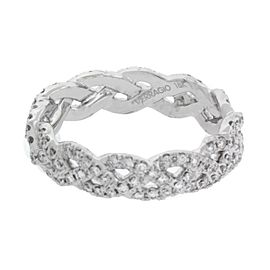 Verragio 18K White Gold Diamond Ring Size 6.25