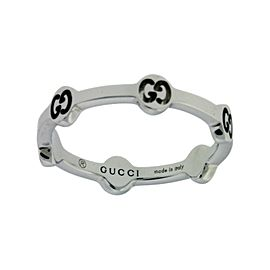 Gucci 18K White Gold Ring Size 5.75