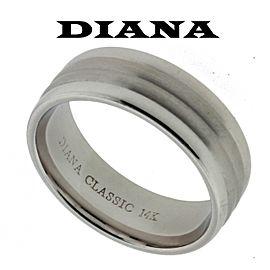14K White Gold Wedding Ring Size 10