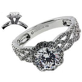 Hidalgo 18K White Gold Diamond Engagement Ring