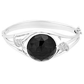 Stephen Webster 925 Sterling Silver Crystal Haze & 0.31ctw. Diamond Forget Me Knot Bracelet