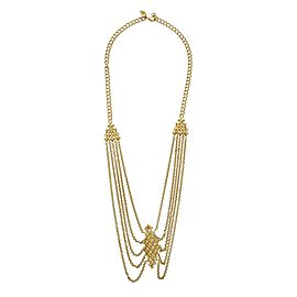 Stephen Webster Gold Tone 925 Sterling Silver Superstud Lariat Necklace
