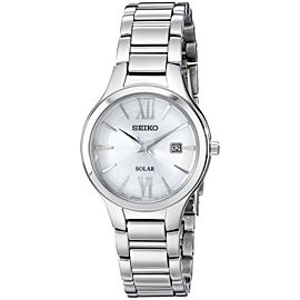 Seiko Solar Two Tone Sterling Silver, Stainless Steel Womens Watch Dial Size 30 Mm