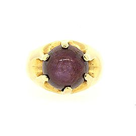 Star Ruby Ring Rare 18k Yellow Gold Heavy 20.3g 18ct sz 9.5