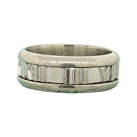 Tiffany & Co. Atlas 18K White Gold Wedding Band Ring Size 5.75