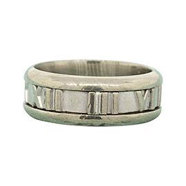 Tiffany & Co. Atlas 18K White Gold Wedding Band Ring Size 5.75