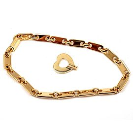 Cartier 18K Yellow Gold Fidelity Heart Key Bar Link Bracelet