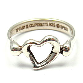 Tiffany & Co. Elsa Peretti 925 Sterling Silver Open Heart Ring Size 5.5