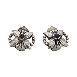 Georg Jensen 925 Sterling Silver Lapis Lazuli Earrings