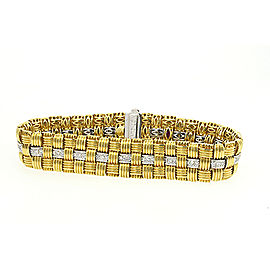 Roberto Coin Appassionata 18K Yellow and White Gold 1.18ct Diamond Bracelet