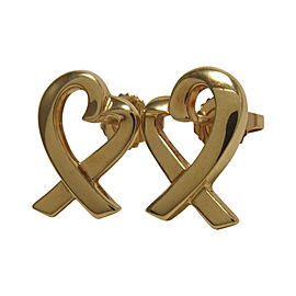 Tiffany & Co. 18K Yellow Gold Paloma Picasso Heart Stud Earrings