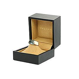 Bulgari Tronchetto 18K White Gold Topaz Ring Size 6.25