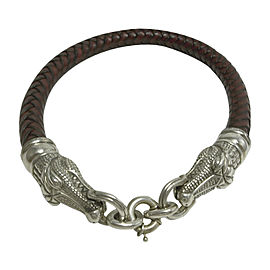 Kieselstein-Cord 925 Sterling Silver Leather Alligator Necklace