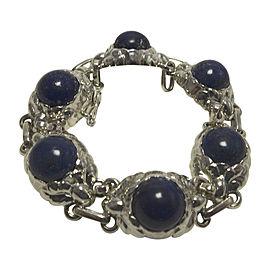 Georg Jensen 925 Sterling Silver Lapis Lazuli Bracelet