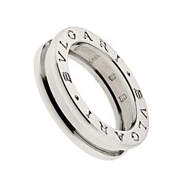 Bulgari 18K White Gold Ring Size 5.75