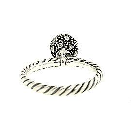 David Yurman Sterling Silver Diamond Ring Size 5.75