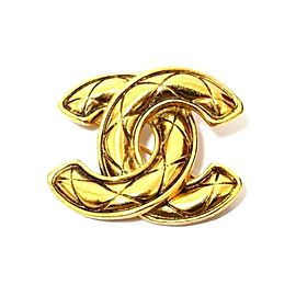 Chanel Gold Tone CC Brooch