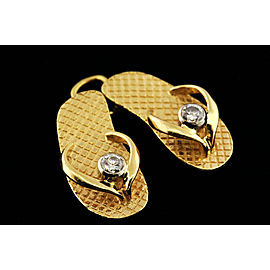 Pair of Sandals Sandal Diamond Flip Flop Shoes Pendant Charm 3D Beach Summer