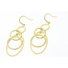 David Yurman Cable 18K Yellow Gold, Sterling Silver Earrings