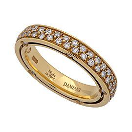 Damiani 18K Yellow Gold Diamond Ring Size 6