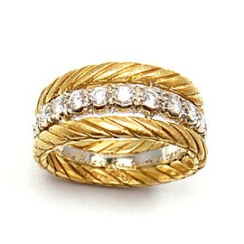 Buccellati 18K Gold 0.35ctw Diamond Ring Size 5