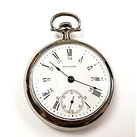 Waltham P.S. Bartlett Railroad Vintage Unisex 54mm Pocket Watch