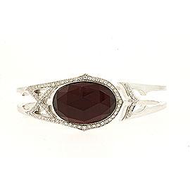 Stephen Webster Bracelet Crystal Haze Red Quartz Diamond Bangle Cuff