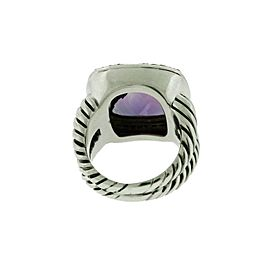 David Yurman 332827186756-E Sterling Silver Diamond, Amethyst Rings Size 6