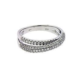 Giorgio Visconti 18K White Gold Diamond Ring Size 6.5
