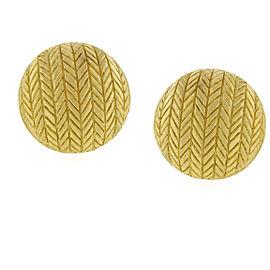 Buccellati 18K Yellow Gold Herringbone Earrings