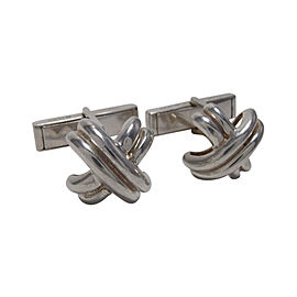 Tiffany & Co. Signature Sterling Silver Cufflinks